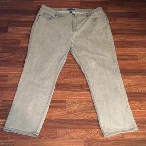 Lauren Ralph Lauren Light Gray Jeans Sz. 22w